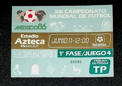 Mexico 86 Original 1986 world cup MEXICO v IRAQ  1st round  ticket