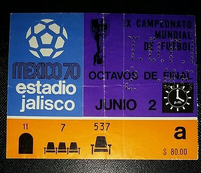 1970 world cup finals original ticket ENGLAND v ROMANIA   @jalisco