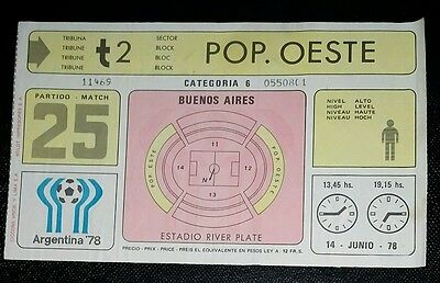 1978 world cup finals ticket West Germany  v Italy @ Buenos Aries