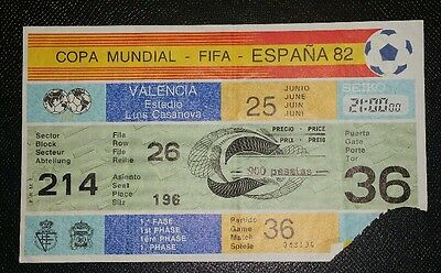 Espana 82 Original 1982 world cup northern Ireland v spain ticket