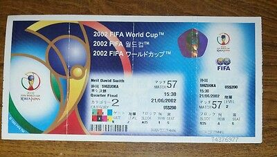 2002 England v Brazil  unused world cup ticket