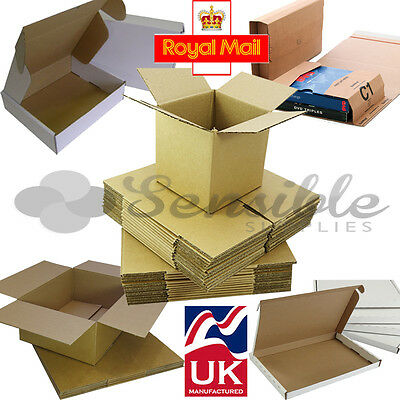 Selection Of Royal Mail Small Parcel Cardboard Mailer Wrap Boxes  - All Sizes