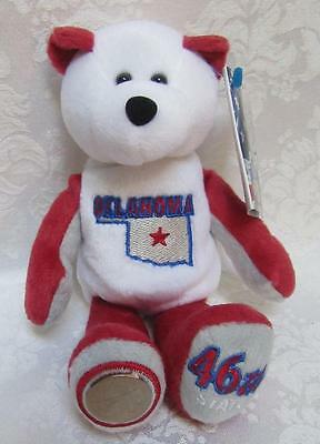Limited Treasures State Quarters Coin Teddy Bear Oklahoma #46