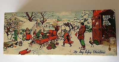 1943  Conrad Dickel- Interwoven Stocking Company- The Day Before Christmas - Box