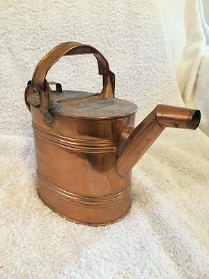 Vintage Retro Copper Watering Can 4 Pint Horticulture Gardening Collectable