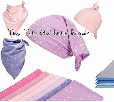 Baby Girls Boys Head Wrap Scarf Bandana Bib Dribble Catcher One Size