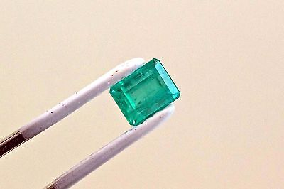 7 X 5mm 1.48 Carat Emerald Cut Natural Colombian Emerald Loose Gemstone