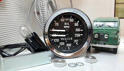 Land Rover Series 1 2 2a Smiths Oil Pressure Gauge Water Temperature Dual 233480