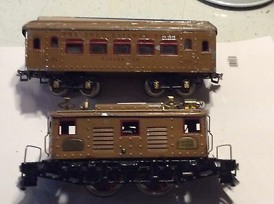 Ives:  Standard Gauge 3236 Engine 0-4-0 and 170, 172 and 171 Passenger cars