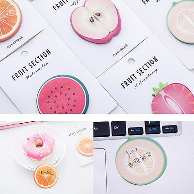 2pcs Random Sent Supplies Fruit Shape Sticky Notes Paster Memo Pad Stickers