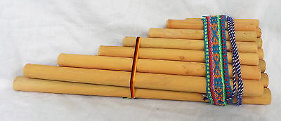 Large Hand Made Zampona - Double Pan Pipes / Panpipes - South America