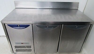 Williams Double Door Pizza Counter Prep Fridge Chiller Mobile Stainless Steel