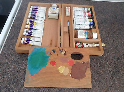 Job Lot daler Rowney Georgian  , reeves etc Oil Paints etc  artists supplies
