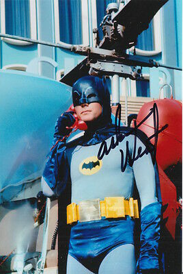 Adam West Hand Signed 6X4 Photo Batman.