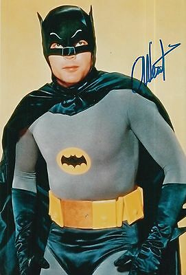 Adam West Hand Signed 12X8 Photo Batman.