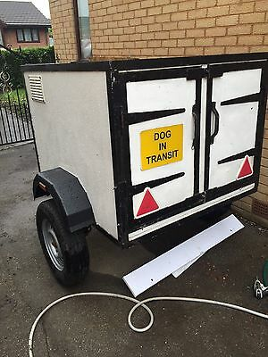 Large Dog Transport Trailer with 2 seperate compartments