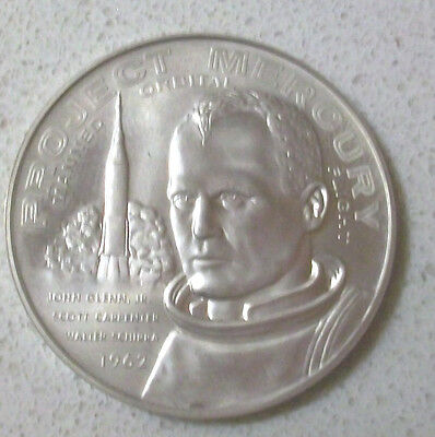 Rare 1962 John Glenn Project Mercury Telstar Sterling Silver Medal/Coin MINT!
