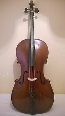 Old Antique Cello Full Size Plus Free Hard Case And New Professional Strings