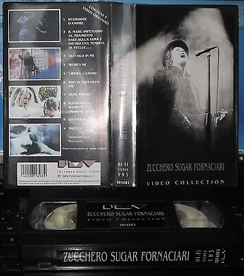 Zucchero Sugar Fornaciari – Video Collection (vhs Polygram Music Video 1989)