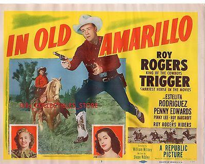 """Roy Rogers & Trigger In Old Amarillo ORIGINAL 11x14"""" LOBBY CARD Set of 8"""