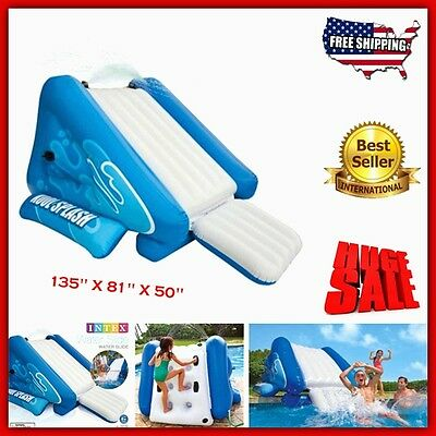 Kids Inflatable Water Slide Sprayer Pool Outdoor Child Play Centre Ground Summer