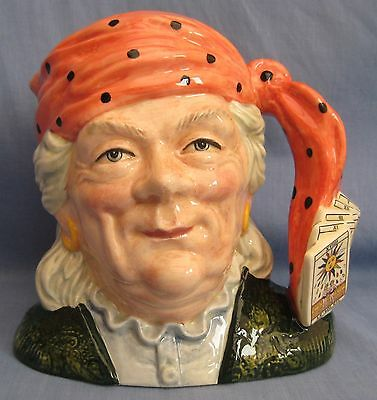 Royal Doulton Jug FORTUNE TELLER D6874 - JUG OF YEAR 1991 - LARGE SIZE - EX COND
