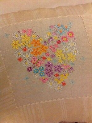 (I) Heart Flower And Butterfly Cross Stitch Chart
