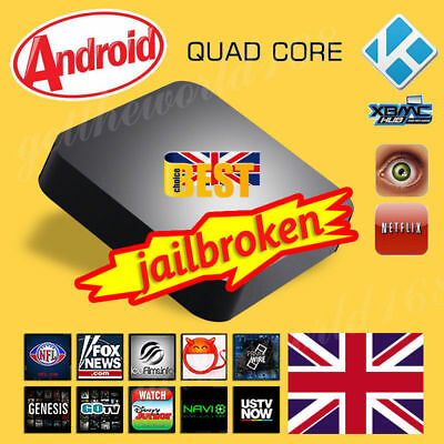 2017 I1 8GB Quad Core Android Smart TV Box Fully Load Free Sports Movies Kids UK
