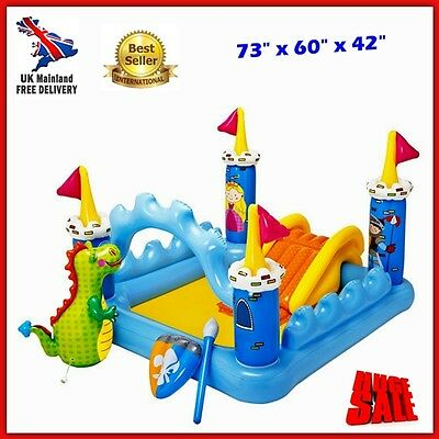 Kids Inflatable Water Slide Sprayer Outdoor Garden Park Play Centre Pool Games