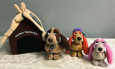 Applause Hush Puppies Bean Bags Basset Hound Rare Dog House Carrying Case