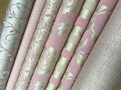Soft Lush Pink Turquoise Damask Stripe Damask Curtain Decor Fabric Upholstery
