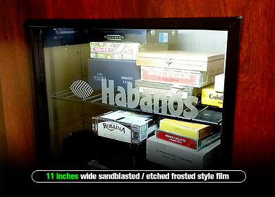 HABANOS Cigar Humidor Decal 11in FROSTED / ETCHED / SANDBLASTED - Wineador