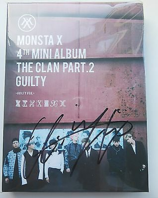 Monsta X The Clan Pt.2 Guilty Ver - Kihyun Signed