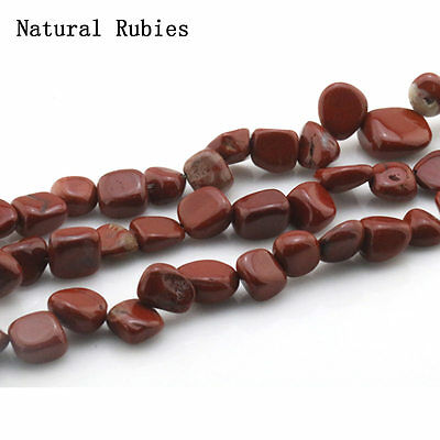 8-10mm Natural Natural Rubies Freeform Gravel Chip loose Beads Strand 15.5""