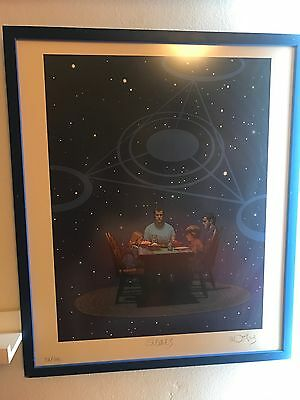 Very Rare Signs Movie Moebius Artist Signed Poster Print Numbered 151/300