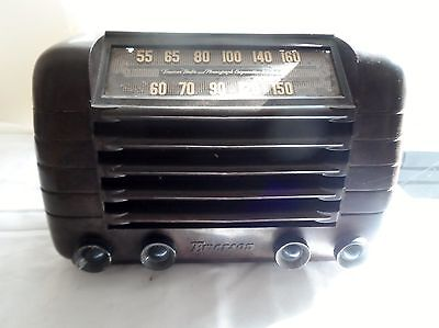 1947 Emerson Bakelite Model 515 Tube Radio 'Farm Set' Battery Power
