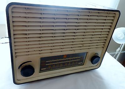 1951 Cambridge PYE Bakelite PE 37b Tube Radio W/Short Wave, Rare As Heck!