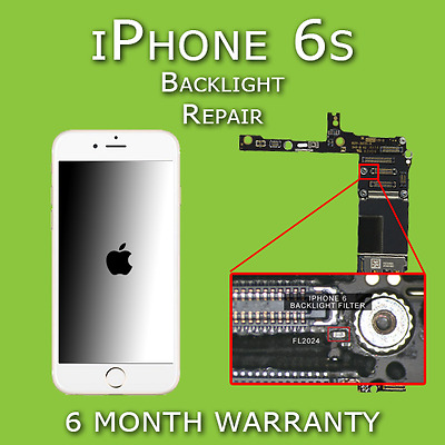 iPhone 6s Full / Half Backlight and Dim Light Repair Mail in Service
