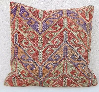 Bohemian Extra Large Big Giant Embroidered Outdoor Kilim Pillow Cover 24'' X 24""