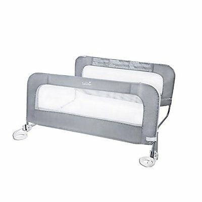 Double Safety Grey Bedrail Rail Bed 12554 Child Toddler Guard Mattresses