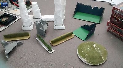 Assorted Warhammer Fantasy and 40K WIP Terrain and other materials