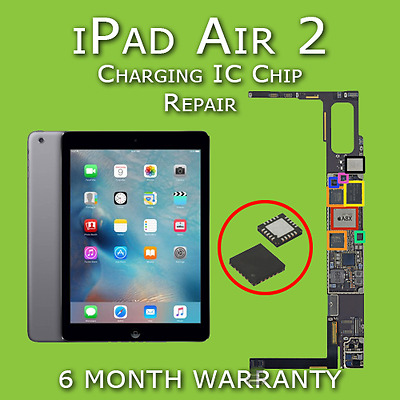 Apple iPad Air 2 Charging IC Chip Replacement Repair Service (Not Charging Fix)