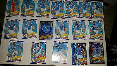 2016/17 Topps Match Attax UEFA Champions League Team Set SSC Napoli