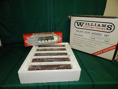 Williams Madison Pennsylvania 5 Car Train Set & Gg-1 Locomotive Nib
