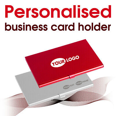 Personalised business card holder laser engraved name text logo 5 colours personalised business card holder laser engraved name text logo 5 colours colourmoves