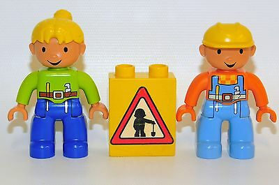 LEGO DUPLO Lot of Bob the Builder & Wendy Figures w/Construction Block