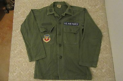 Vintage Guaranteed Trooper Fatigues Vietnam War U.S. Air Force Patch Shirt sz M