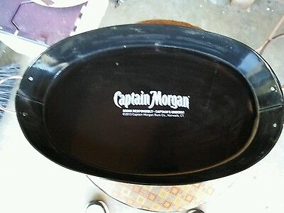 Captain Morgan Bar Tray. Drink Responsibly. Captains Orders. Tin Tray