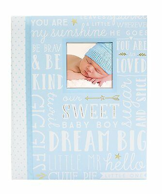 Peach Dream Big Wordplay Boy Girl Baby Memory Keepsake Book Blue Free Shipping