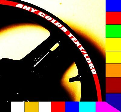 Red Reflective Printed Motorcycle Rim Stripe Wheel Tape